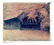 Polaroid Transfer Prints - Covered Bridge Print by Joe  Palermo