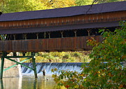 Kevin Schrader Metal Prints - Covered Bridge Metal Print by Kevin Schrader