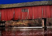 Indiana Metal Prints - Covered Bridge Metal Print by Michael L Kimble