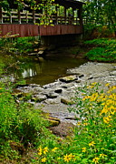 Stepping Stones Photo Prints - Covered Bridge Print by Robert Harmon