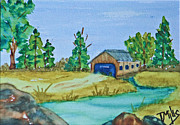 Covered Bridge Print by Terri Mills