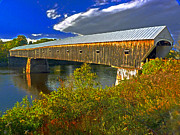 Vermont Autumn Originals - Covered Bridge by William Fields