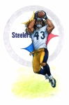 Steelers Drawings - Covered by Erik Schutzman