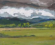 Francois Fournier Paintings - Covered Sky  Woburn Quebec Canada by Francois Fournier