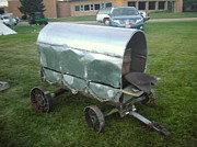 Steel Sculpture Posters - Covered Wagon Poster by Hunter Quarterman