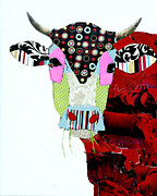 Animal Painting Posters - Cow II Poster by Michel  Keck