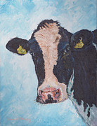 Friesian Prints - Cow no 02. 0566 Irish Friesian Cow  Print by Dermot OGrady