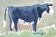Berkshire Hills Living Framed Prints - Cow sketch Framed Print by Len Stomski