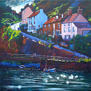 Neil Mcbride Framed Prints - Cowbar - Staithes Framed Print by Neil McBride
