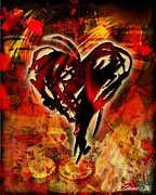 Las Vegas Mixed Media - Cowboy - Heart by Maria Eames