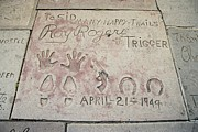 Handprint Prints - Cowboy Actor Roy Rogers Hand Print by Everett
