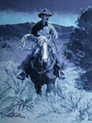 Duarngo Prints - Cowboy Blues Print by Randy Follis