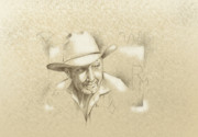 Airbrushed Art Mixed Media - Cowboy Brand by Robert Martinez