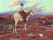 Ranchers Paintings - Cowboy Country by Pg Reproductions