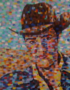 Elvis Presley Painting Originals - Cowboy Elvis by Denise Landis
