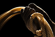 Authentic Photos - Cowboy Hand Holding Lasso by Olivier Le Queinec