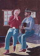 Cowboys Mixed Media - Cowboy Harmonica by Fred Jinkins
