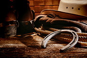 Roper Photos - Cowboy Horseshoe by Olivier Le Queinec