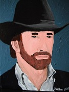 Jordan Art Paintings - Cowboy by Jeannie Atwater Jordan Allen