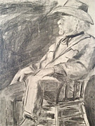 Chair Drawings - Cowboy by Lois Black