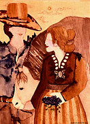 Cowboy Love Print by Dede Shamel Davalos