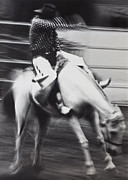 Riding Photos - Cowboy riding bucking horse  by Garry Gay
