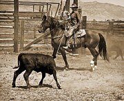 Ranching Prints - Cowboy Tango Print by Megan Chambers