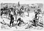 W.a. Prints - Cowboys At Bullfight, 1880 Print by Granger