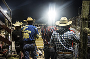 Rodeos Photo Posters - Cowboys at Rodeo Poster by John Greim