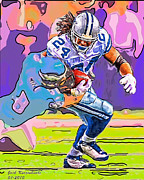 Dallas Digital Art Metal Prints - Cowboys Marion Barber Metal Print by Jack Kurzenknabe