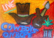 Band Pastels Originals - Cowboys on dope by Olaf Kuhn