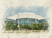Pro Football Prints - Cowboys Stadium Print by Ricky Barnard