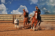 Horse Toys Framed Prints - Cowboys Toys Framed Print by Karen Slagle