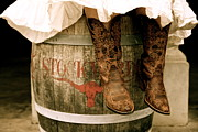 Cowgirl Photos - Cowgirl Boots by Snow White