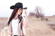 Cowboy Hat Photos - Cowgirl by Cindy Singleton