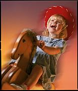 Rocking Horse Posters - Cowgirl Poster by Kelley King