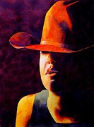 Rodeo Paintings - Cowgirl by Robert Hooper