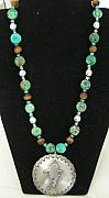 Silver Turquoise Jewelry Originals - Cowgirl Rodeo Concho Necklace by Kim Souza