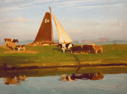 Dike Prints - Cows and Sails Print by Nop Briex