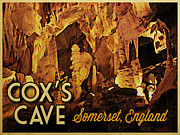 Cavern Digital Art Framed Prints - Coxs Cave England Framed Print by Vintage Poster Designs