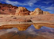 Desert Metal Prints - Coyote Butte Reflections Metal Print by Mike  Dawson