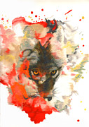 Science Fiction Pastels - Coyote by Janice Lawrence
