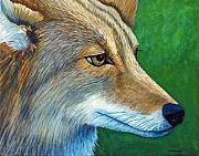 Coyote Art Paintings - Coyote Logic by Brian  Commerford