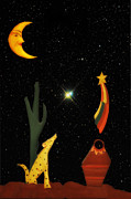 Shooting Star Prints - Coyote Moon Print by Bill Cannon