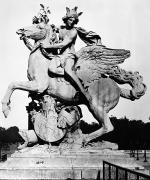 Greek Sculpture Metal Prints - Coysevox: Mercury & Pegasus Metal Print by Granger