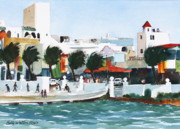 Central America Paintings - Cozumel By The Sea by Bobby Walters