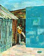 Guitar Player Mixed Media Prints - Cozumel Mexico Print by Gary Peterson