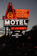 Neon Light Posters - Cozy Cone Motel - Radiator Springs Cars Land - Disney California Adventure - 5D17744 Poster by Wingsdomain Art and Photography