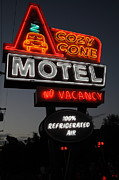 Neon Light Posters - Cozy Cone Motel - Radiator Springs Cars Land - Disney California Adventure - 5D17746 Poster by Wingsdomain Art and Photography