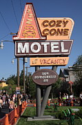Disney California Adventure Park Framed Prints - Cozy Cone Motel - Radiator Springs Cars Land - Disney California Adventure - Anaheim California - 5D Framed Print by Wingsdomain Art and Photography